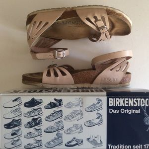 Birkenstock Sandals W40N Palma Pink Leather Rare
